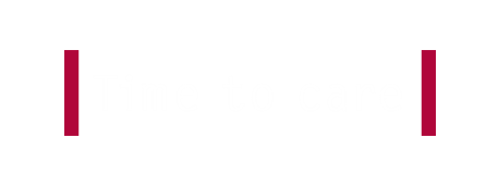 Time to Care - white text