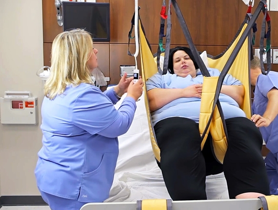 Sling for lifting and moving bariatric patients - Bariatric Basic High