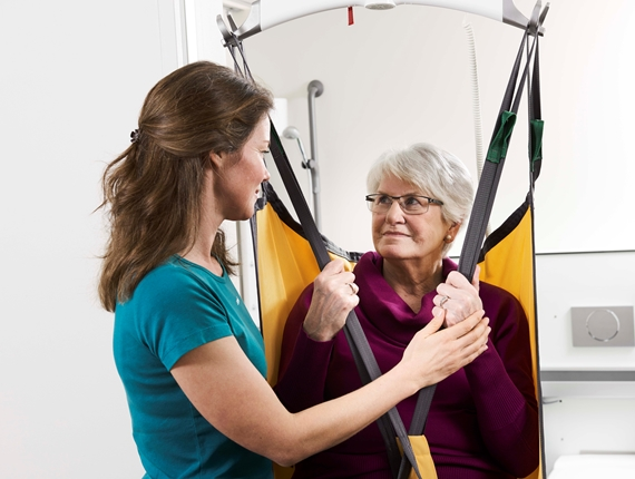 Long term care - Lifting and moving from bed to bathroom