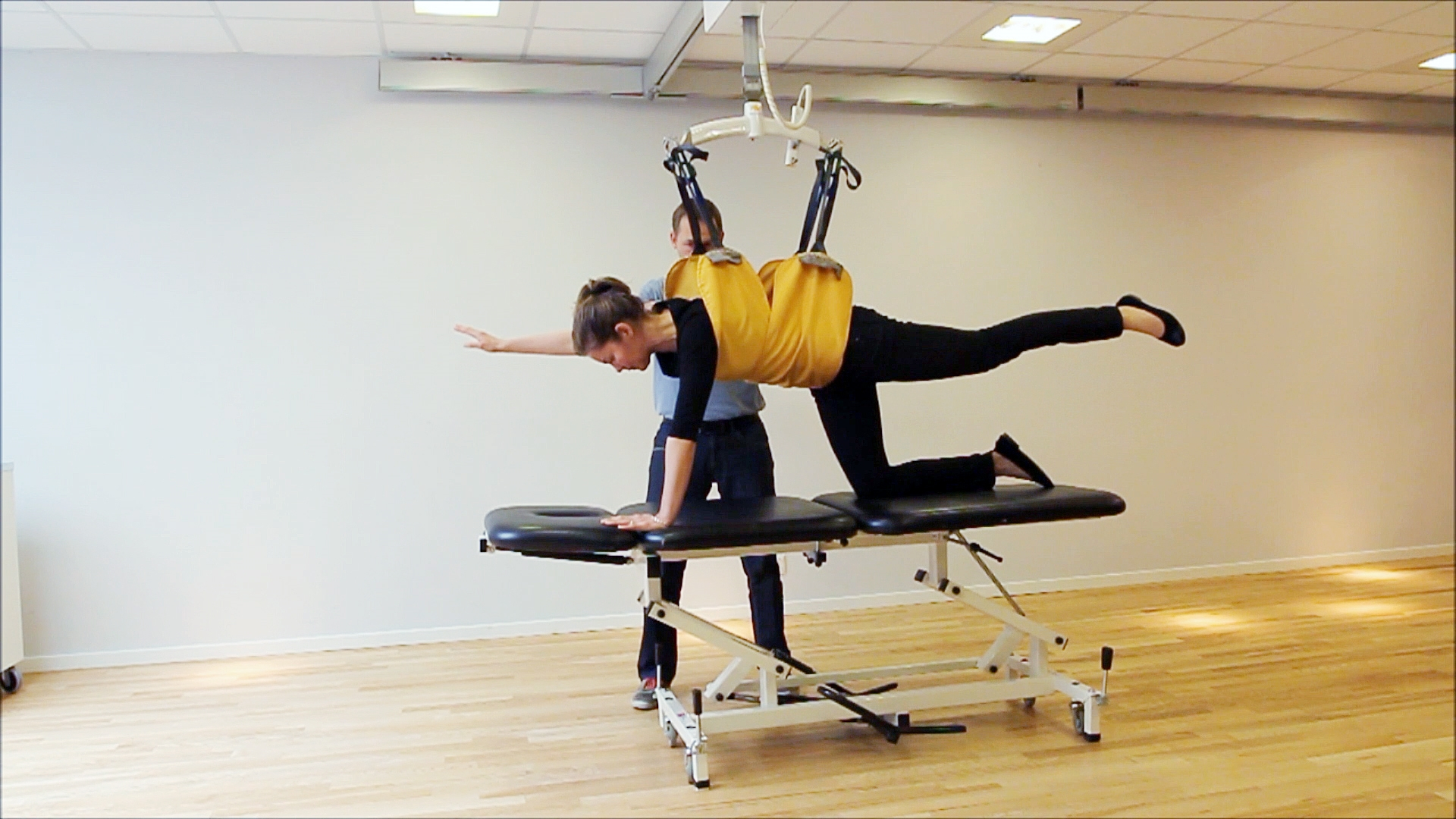 Rehabilitation exercise - Knee4Standing - diagonal lift on all four