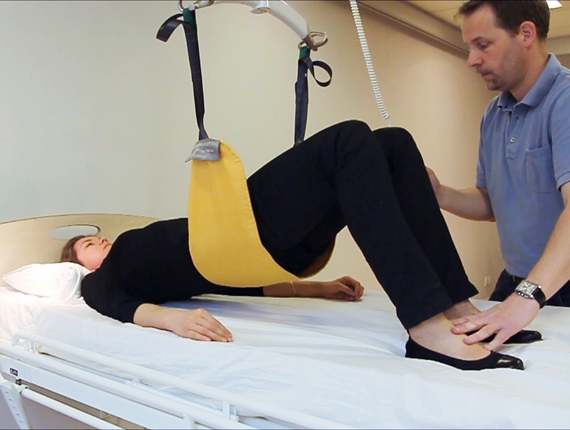Early mobilization of the bedridden patient - Pelvis Lift exercise