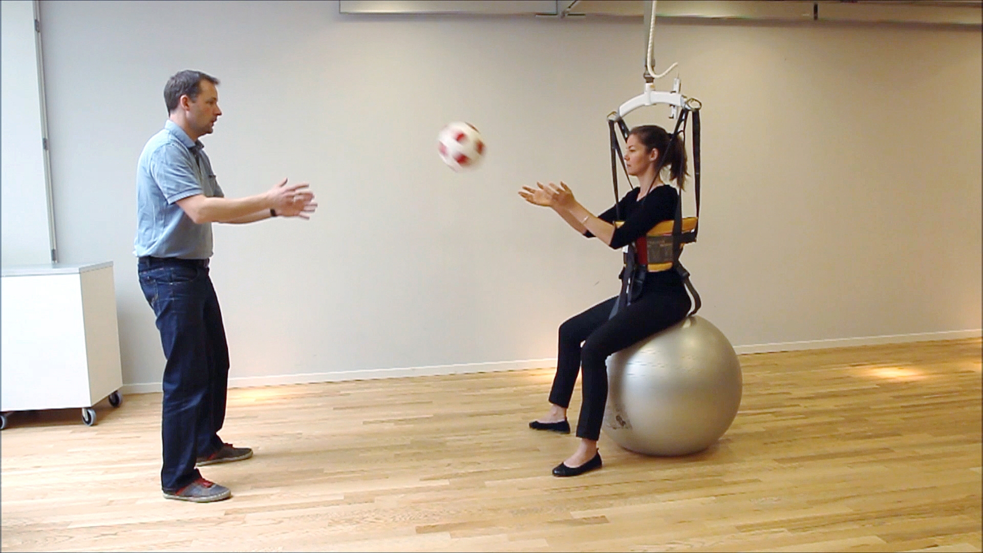 Balance Exercises - sitting on a ball