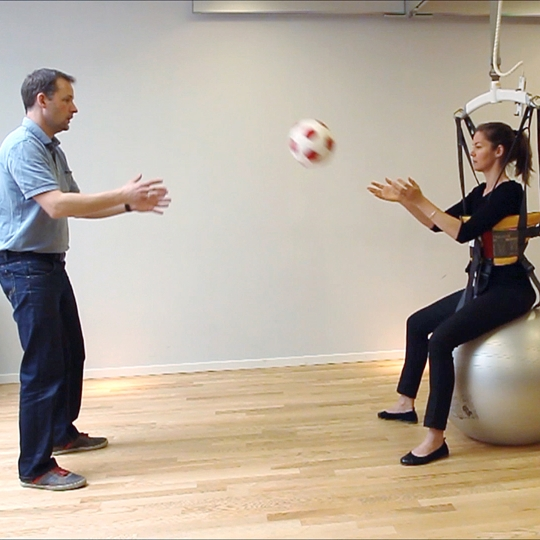 Rehabilitation exercise - Sitting Balance on Ball