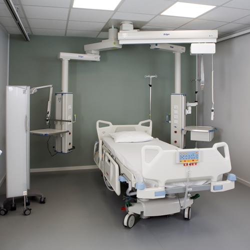 Guldmann Showroom - ICU with ceiling hoist system