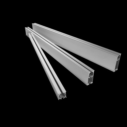 Rails can be installed on walls, ceilings and floor-mounted brackets – or using any combination of these
