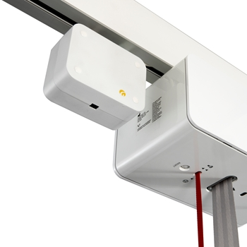 Using the Positioning lock, it is possible to secure the lifting module and/or the traverse rail in a given position in the full-coverage rail system.