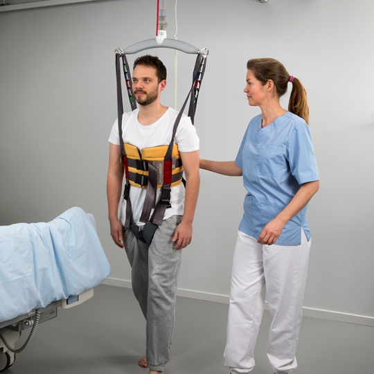 Early mobilization - gait and balance training of the patient with Positioning lock and Active Trainer