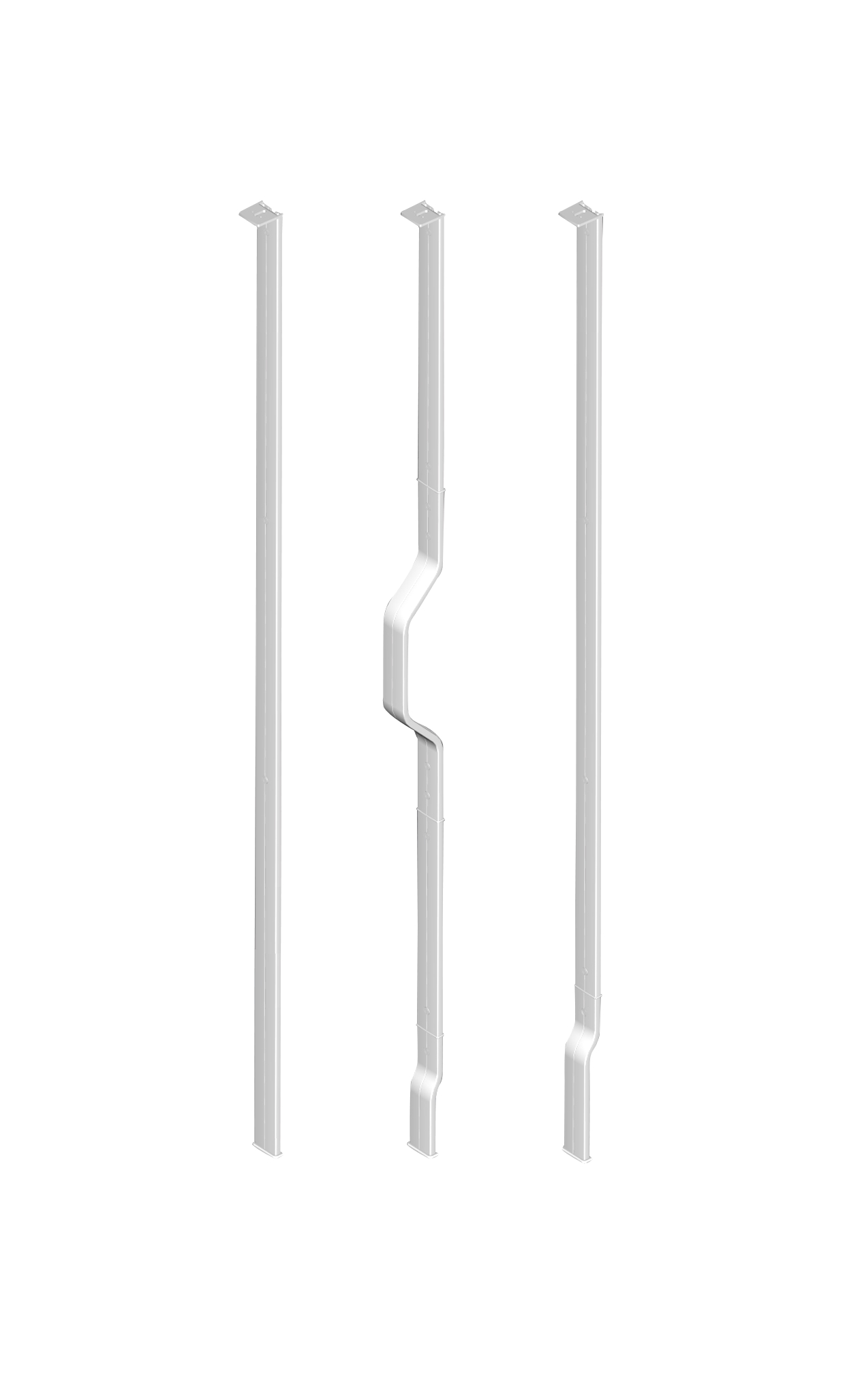 Upright support bracket – for rooms where rails cannot be secured to the walls or ceiling