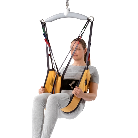Active Micro Plus sling is ideal for moving users in a sitting position, with the emphasis on access for toileting and other hygiene procedures.