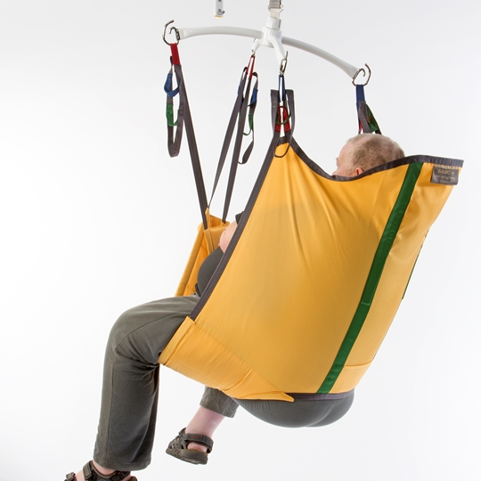 The Guldmann Basic High Bariatric sling is a general lifting sling suitable for bariatric users.