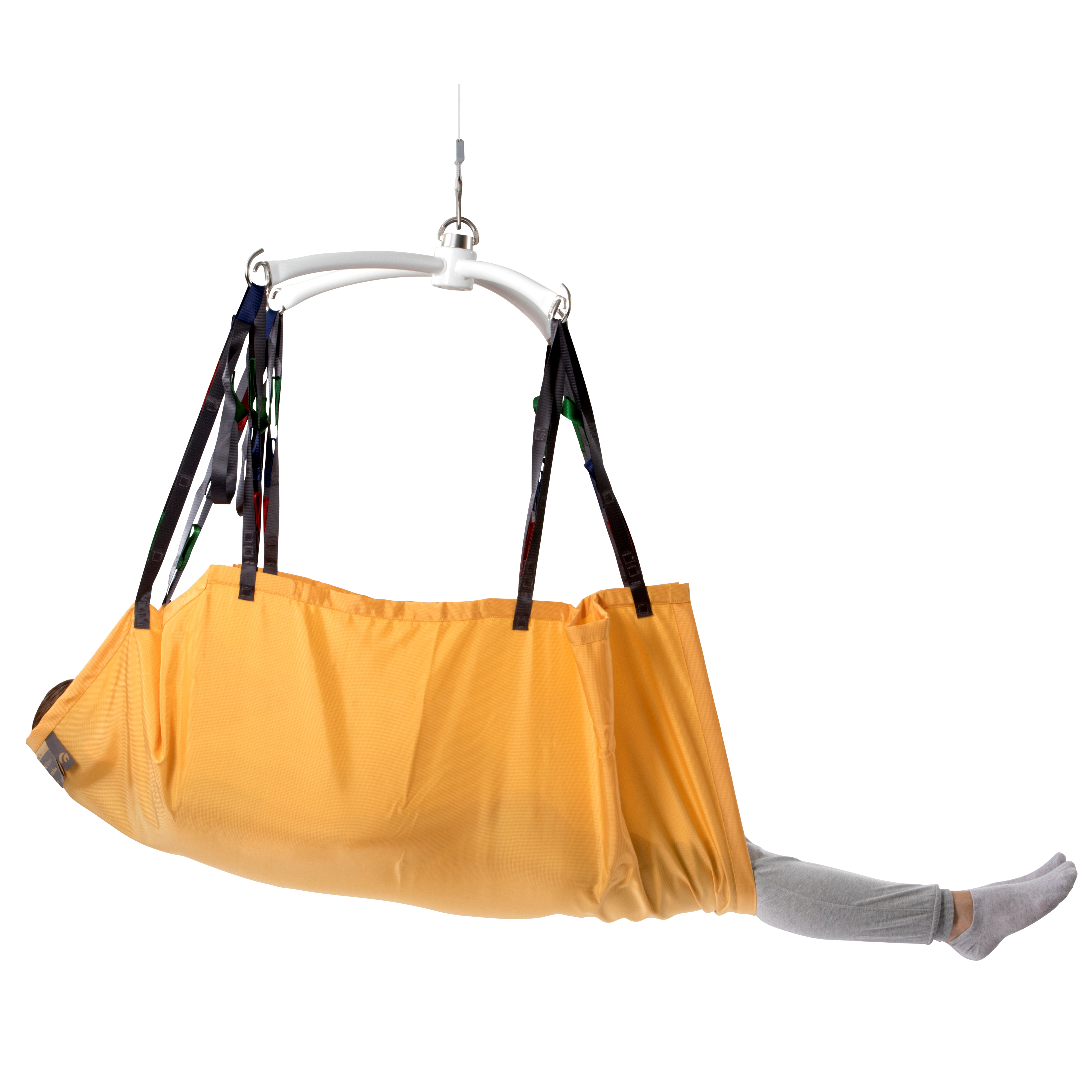 Repositioning Sling For Lifting And Positioning Recumbent
