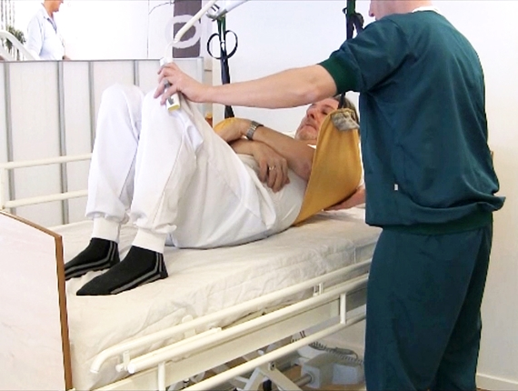 Multi Support sling learning video - How to use the Multi Support sling to move a patient higher up in bed