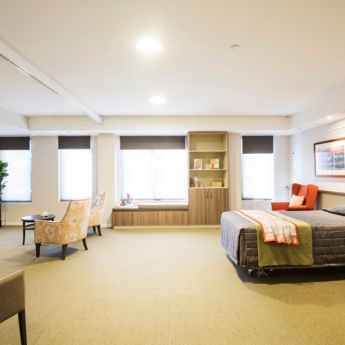 We have recently completed an installation of 126 room covering ceiling hoist systems at Scalabrini Aged care village designed to enrich the lives of those living with dementia or age-related complex care needs.