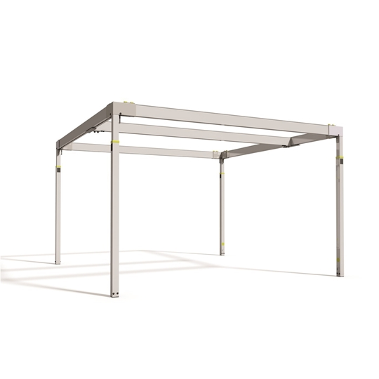Free-standing room covering rail system,  simple, practical and safe