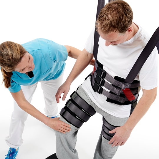 Gait Trainer - How to put the sling on