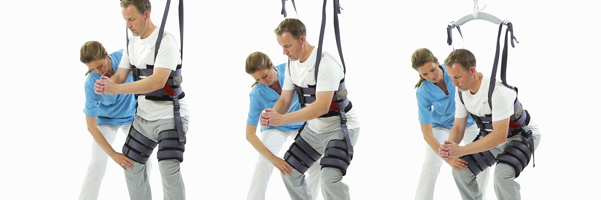 Walking sling with leg cuffs – for early mobilization and balance training