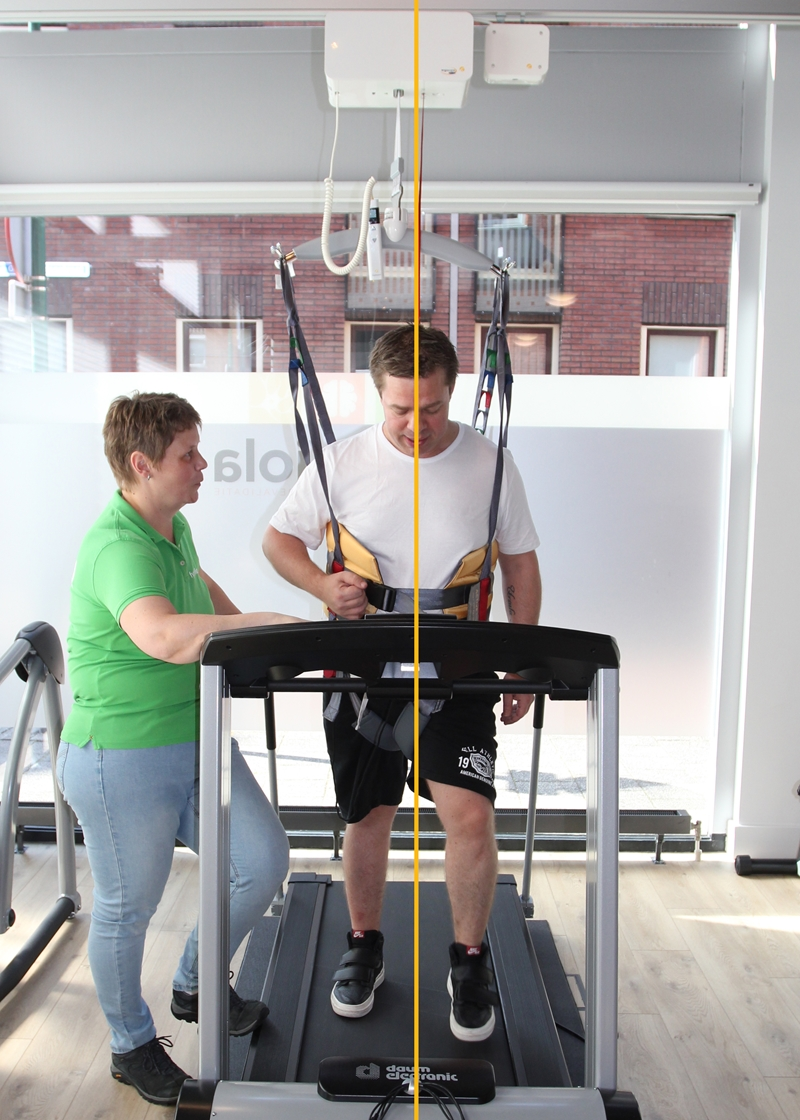 FysioViola - Treadmill training - Alignment - With Guldmann Positioning lock
