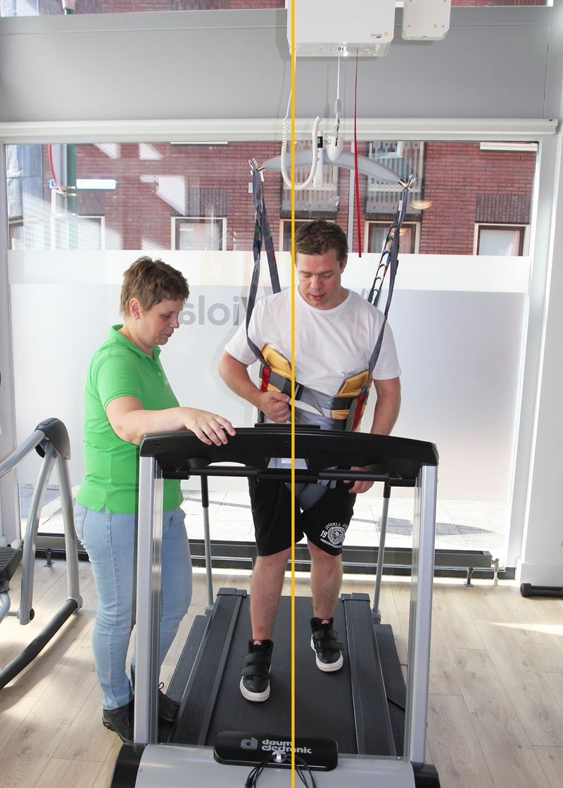 FysioViola - Treadmill training - Alignment - Without Guldmann Positioning lock
