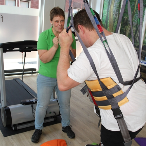 FysioViola Obstacle course with ceiling hoist and active trainer