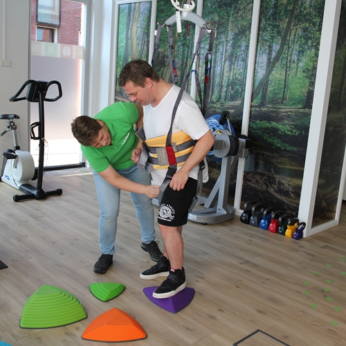 FysioViola - Using Ceiling hoist and active trainer for obstacle course training
