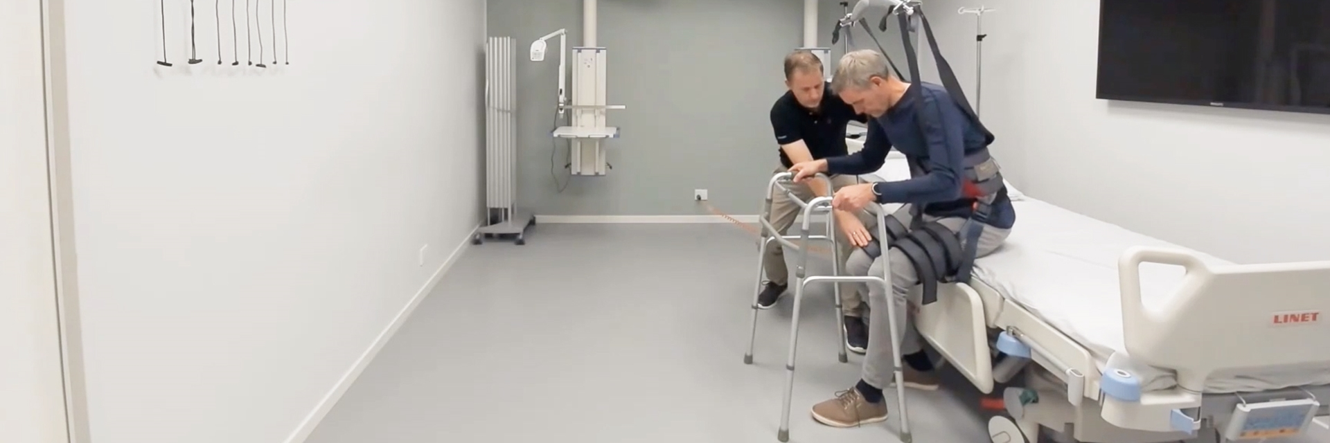 Trainer module - Positioning lock - Sit to stand exercise
